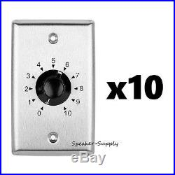 10 Pack Stainless Steel Volume Control Knob Plate 35W 25 70 Volt SAG0241 x10