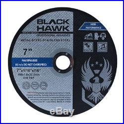 100 Pack 7x1/16x7/8 Cut-off Wheel Metal & Stainless Steel Cutting Discs