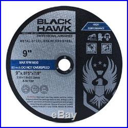 100 Pack 9x. 075x7/8 Cut off Wheel Metal & Stainless Steel Cutting Discs