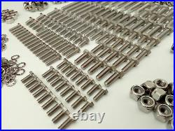 1000pc Stainless UNF Hex Bolts, Nuts & Washer JAGUAR E TYPE Pack