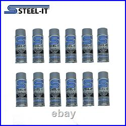 1002B STEEL-IT 12 pack Case 14oz Gray Stainless Steel Polyurethane Aerosol Cans
