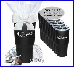 12 Pack You Are Awesome Hershey Kisses Gift Tumblers/Employee Appreciation