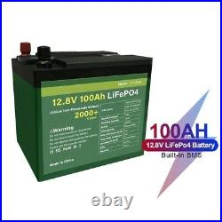 12V 100Ah Lifepo4 Waterproof Battery Pack Li-Ion With Built-in BMS For Inverter