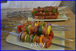13 Skewer Rotisserie Rack Grill Automatic Rotating Motor Operated BBQ Set