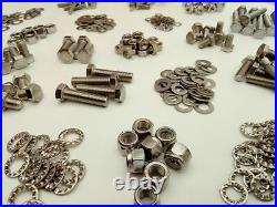 1500pc Stainless UNF Hex Bolts, Nuts & Washer LANDROVER SERIES 1-2-3 Pack