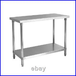 150cm New Commercial Stainless Steel Tables / High Quality / Flat Pack