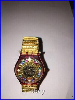 1994 Christmas Special Swatch Watch Xmas by Xian Lax GZ140 with Case