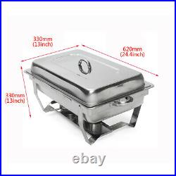 1Pack Chafing Dish Sets BUffet Catering Stainless Steel with Tray Folding Chafer