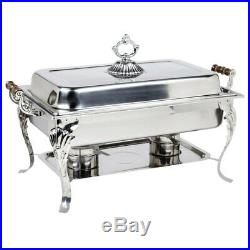 2 PACK Catering Classic STAINLESS STEEL Chafer Chafing Dish Set 8 QT Buffet Full
