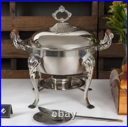 2 PACK Catering Classic STAINLESS STEEL Chafing Dish 5 QT Half Round Chafer