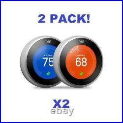 2-Pack Google Nest Learning Thermostat 3rd Gen Stainless Steel Bundle Offer