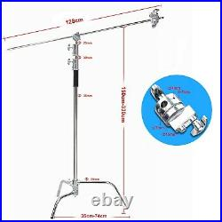 2-pack Photo Studio 10ft Heavy Duty C Stand Century Stand for Aputure Godox