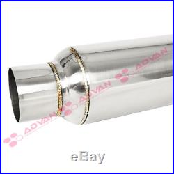 2 x Stainless Steel 10 in Glass Pack Muffler Resonator 2.5 in. In/Out 211715