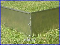 20 Pack Lawn Edging Border Lawn V2A Stainless Steel 18 cm high