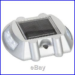 20 Pack Solar LED Pathway Driveway Lights Dock Path Step Road Safety Marker
