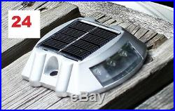 24 Pack Solar LED Pathway Driveway Lights Dock Path Step Road Safety Markers