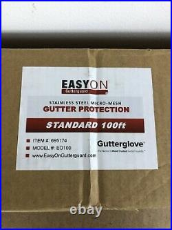 25 Pack Easy On Gutter Guard Gutterglove Stainless Steel Micro-Mesh 5. 100