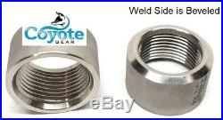 25 Pack Lot 1/2 NPT 304 Stainless Steel Pipe Thread Weld Bung Coyote Gear SS