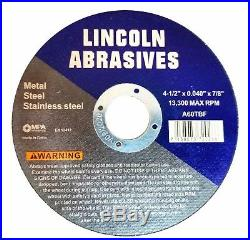 2500 Pack 4-1/2.040 Cut-off Wheel 4.5 Cutting Discs Stainless Steel & Metal