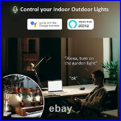 2Pack LED Floodlight 60W RGB Smart WIFI APP Control Outdoor Security Garden Lamp