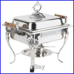 3 PACK Stainless Steel Choice Classic Buffet Catering 4 Qt Half Size Chafer Dish