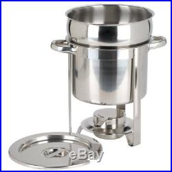 3 PACK Stainless Steel Choice Deluxe 7 Qt. Soup Chafer / Marmite Round Chafer