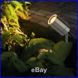 3W LED Outdoor Stainless Steel Garden Ground Spike GU10 IP Rated Various Colours