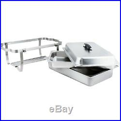 4 Pack Dish Sets 8 Qt Catering Stainless Steel Chafer Chafing Full Size Buffet