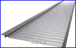 4 ft. Stainless Steel 5 in. Micro-Mesh Gutter Guard 20-Pack Snap Garden Tools