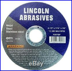 400 Pack 4-1/2 1/16 Cut-off Wheel 4.5 Cutting Discs Stainless Steel & Metal