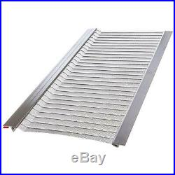4FtL x 6In W Stainless Steel Micro Mesh Gutter Guard 20Pack Filter Rainwater 1lb