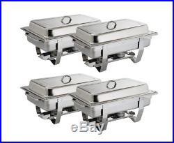 4X Olympia Milan Chafing Set Four Pack Stainless Steel Dish