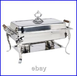 5 PACK Catering Classic STAINLESS STEEL Chafer Chafing Dish Set 8 QT Buffet Full