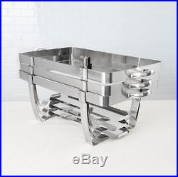 (5/Pack) Full Size 8 Qt Stackable Stainless Steel Chafing Dishes Catering