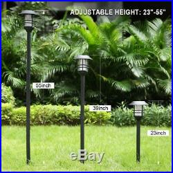 55 Tall Solar Torches Lights 4 Pack with Flicking Flame 100% Metal LED Solar