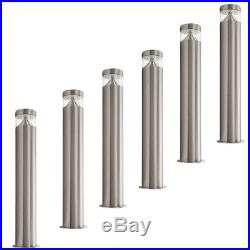 6 PACK illucio LED Garden/Outdoor Lampost Bollard Lightingin Stainless Steel x6