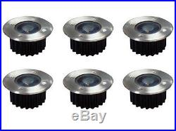 6 Pack Bright White Led Solar Powered Garden Decking Deck Lights Patio Driveway