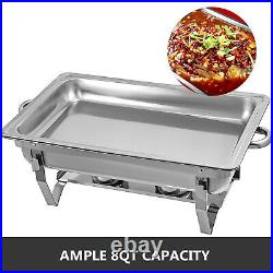 6 Pack Chafing Dish 9 L Buffet Server Chafer Wedding Fuel Spoons Catering