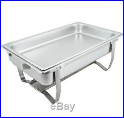 6 Pack Full Size Buffet Catering Stainless Steel Chafer Chafing Dish Sets 8 Qt
