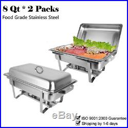 6 Packs Stainless Steel Chafing Dish Sets Food Warmers 9l Food Pans Fuel Spoons