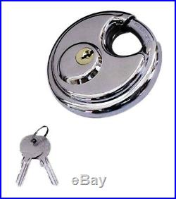 72 Pack Round Padlock Shielded Shackle 2-3/4 Stainless Steel Armor Trailer