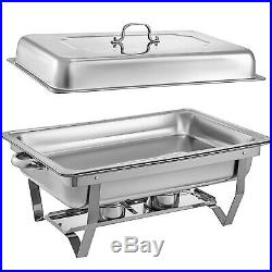 8 Pack Chafing Dish 9 L Buffet Server Chafer Warming Dishes Stainless Steel