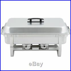 8 Pack Dish Sets 8 Qt Catering Stainless Steel Chafer Chafing Full Size Buffet