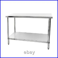 900mm Stainless Steel Table / Under Self / Flat Pack / Commercial Kitchen / NEW