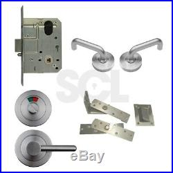 Ambulant Disabled Toilet Door Privacy Pack RH with Accessible Hinge & Latch AS1428