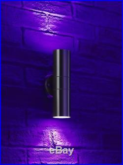 Auraglow Stainless Steel Double Up Down Outdoor LED Colour Changing Wall Light