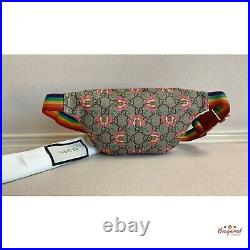 Authentic GUCCI Multicolor GG Butterfly Supreme Waist Belt Bag/Fanny Pack 502095