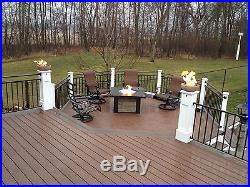 B4BK++2PK (2 PACK)11 FIRE BOWLS TABLETOP/ POST-TOP Kit For Pre Plumbed NG/ LP