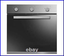 Baumatic BGPK600X 60cm Built-In Fan Oven & Gas Hob Duo Pack Stainless Steel glas