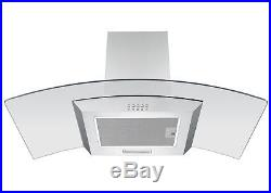 Beko 90cm Stainless Steel Electric Range Cooker & Curved Glass Cooker Hood Pack